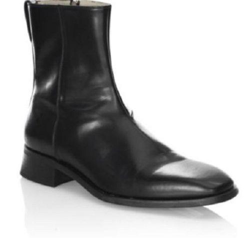 0ef9f82df5d Men black High Ankle Fashion Side Zipper Boots CMB-369 — Curvento