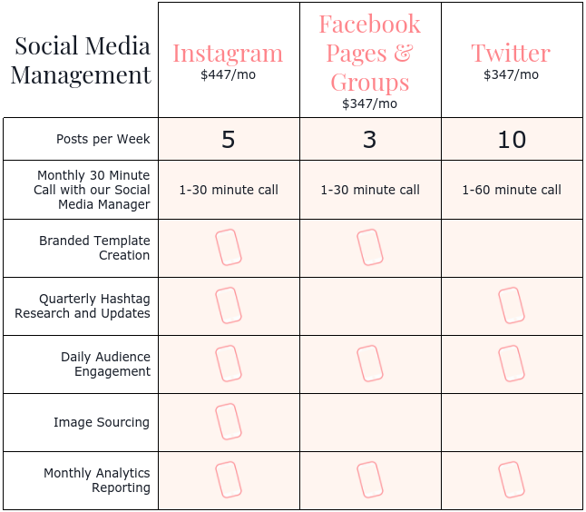 Social Media Management Instagram Manager