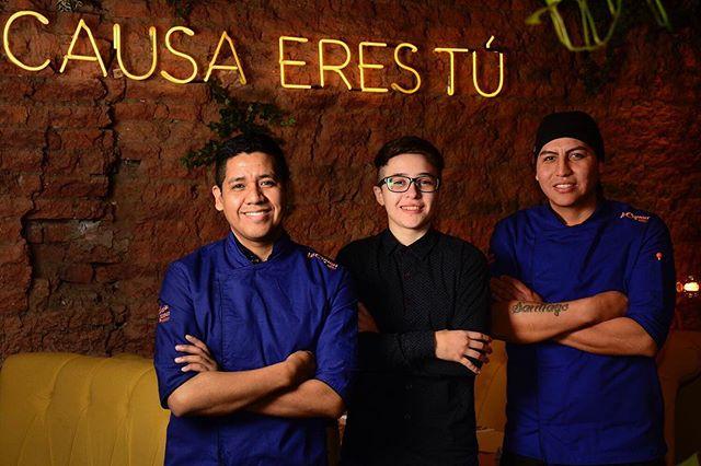 Dangelo, Dafne y Paulo, el equipo de #LaCausa 💚💚💚