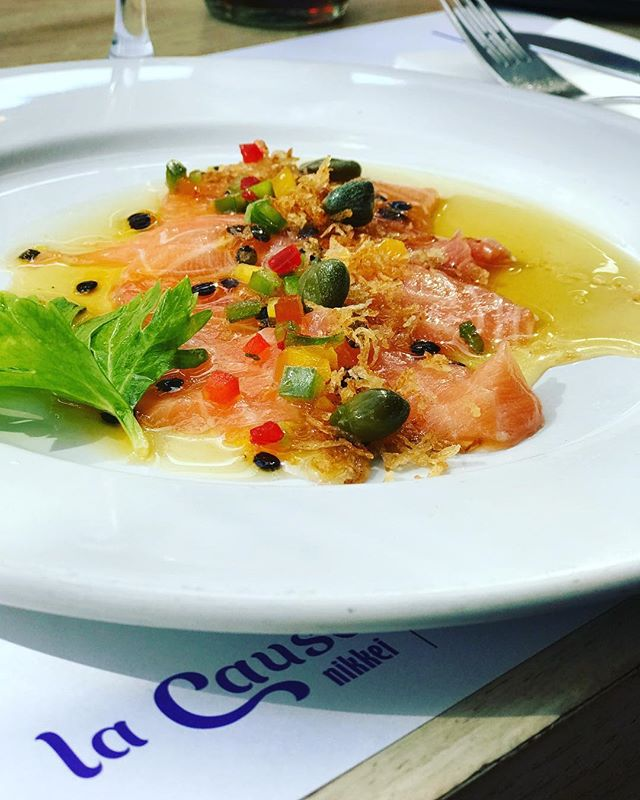 Bravazo el Tiradito Nikkei ✨🔥 #unitealacausa #peruano #fusion #foodiesbuenosaires #lacausanikkei