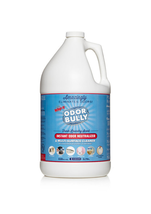 Odor Bully Gallon Odor Neutralizer & Surface Cleaner 128oz Fresh Laundry  Scent — The Amazing Whipit®