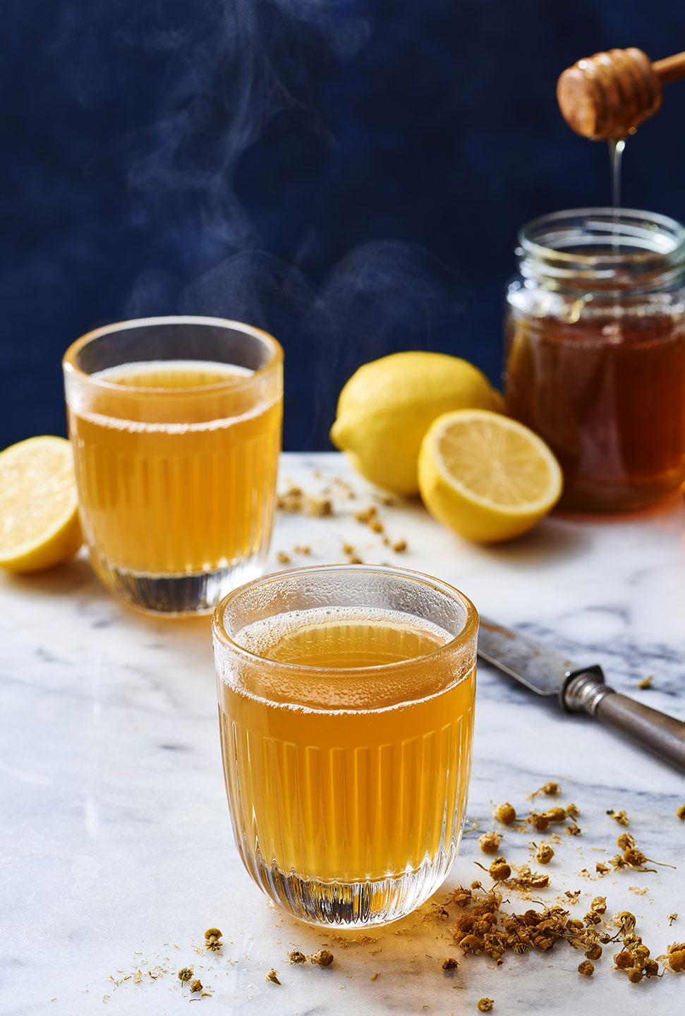 Camomile, Honey and  Lemon Hot Toddy