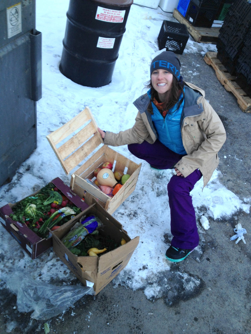 Ali dumpster diving in 2012, how it all started!