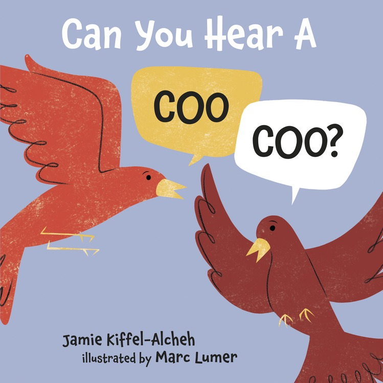 CAN YOU HEAR A COO, COO? - In this stylized, rhyming board book, animal pairs march to a surprise destination...Noah's Ark!Featuring the work of award-winning illustrator Marc Lumer, the book uses earth tones and subtle textures to prime young palates for art appreciation, while the animal exclamations on each page were developed to invite repetition and syllabic learning—and they are fun to say!This book is a PJ Library selection.