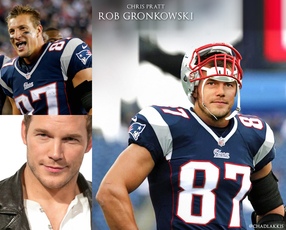 05 - Chris Pratt as Patriots Tight End Rob Gronkowski.jpg