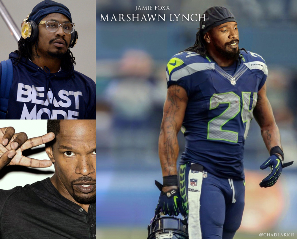 13 - Jamie Foxx as Seahawks Running Back Marshawn Lynch.jpg