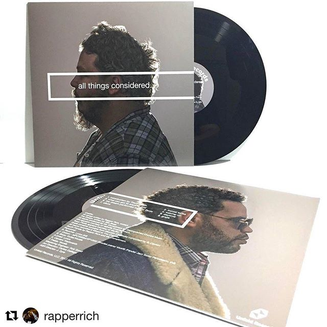 We had fun cutting this one! #Repost #realtimevinyl @rapperrich ・・・ So proud to announce our new album All Things Considered will be released on April 18th via @unfoldrecords to all vinyl and digital outlets wordwide. We have worked so long and hard on this project. Countless hours and nights were put in to make this timeless music. Thank you to @listentosin @bibi.borja @therealtracyfields @comp @ybvisuals @giovanna_flaw and so many others who helped make this dream a reality. It will be an honor to share this with you all. Grab your copy April 18th #Unfoldrecords #vinyl #12inch