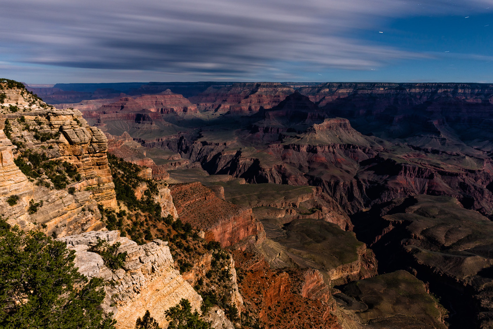 Grand Canyon, Mather Point, Moonlight Shot, South Rim, Arizona, USA