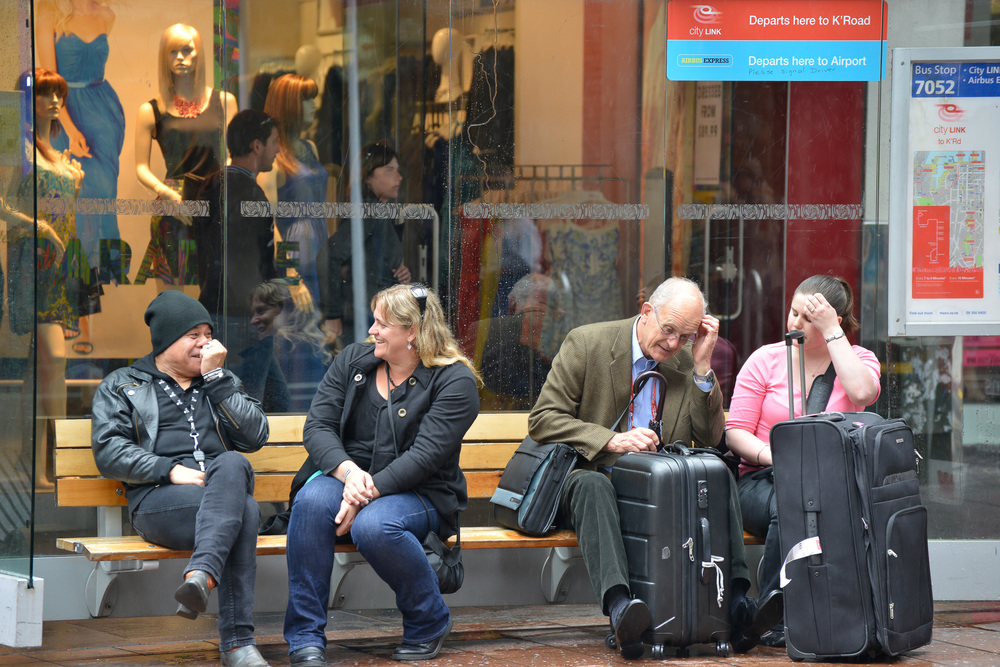 Waiting for a Bus, Auckland, New Zealand