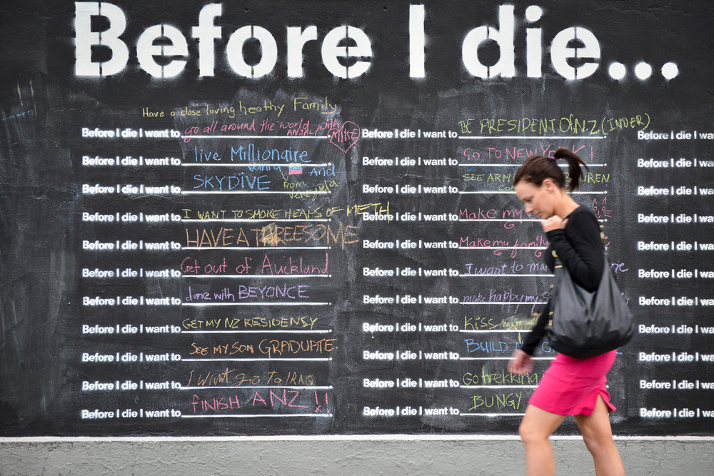 Before I die, Auckland, New Zealand