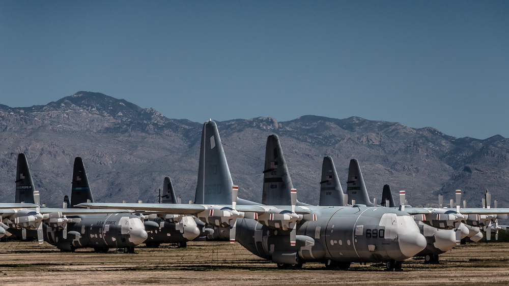 Lockheed C-130 Hercules, The Boneyard, Davis-Monthan Air Force Base, Tucson, USA
