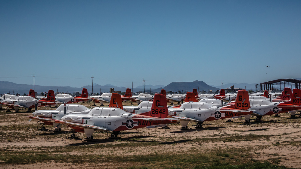 Beech T-34C, The Boneyard, Davis-Monthan Air Force Base, Tucson, USA