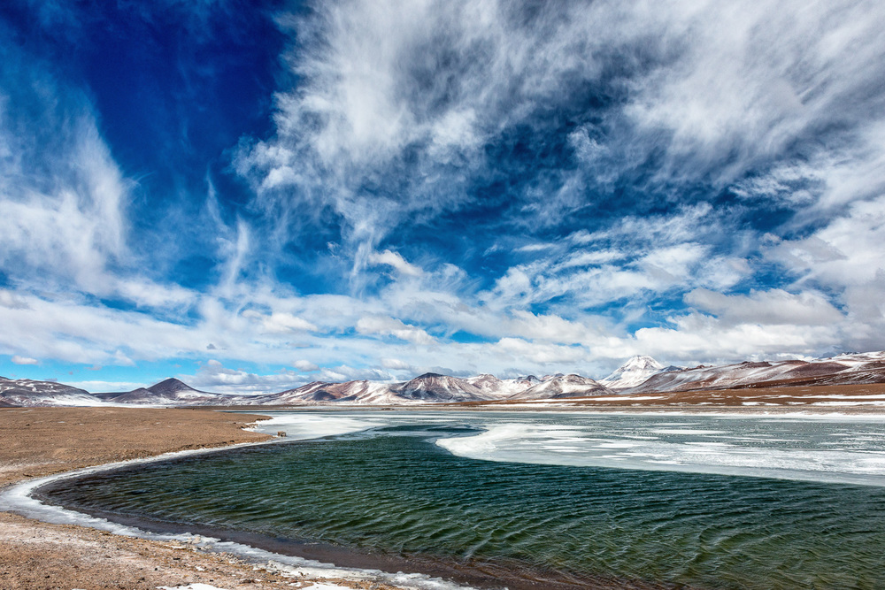 A freezing river, Andes, Chile