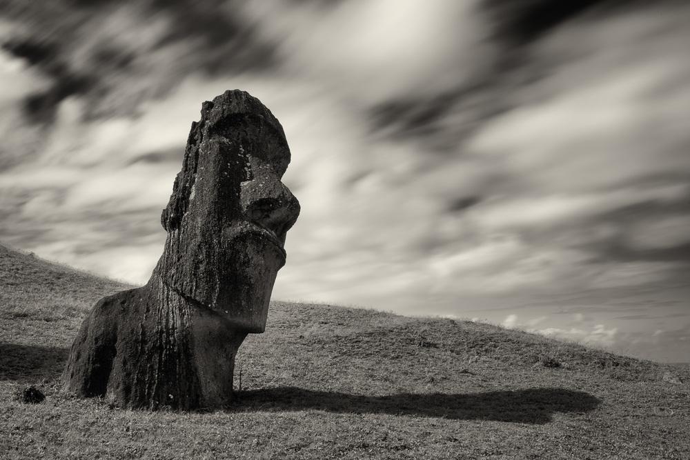 MOAI, Rano Raraku, Easter Island, Chile