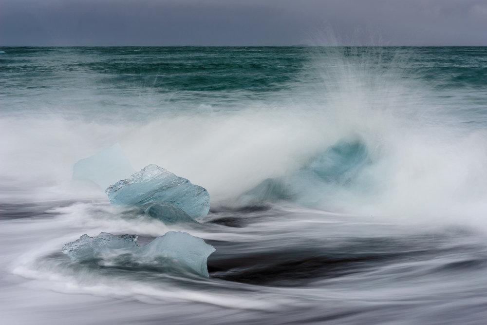 Jökulsárlón Black Sand Beach, Iceland