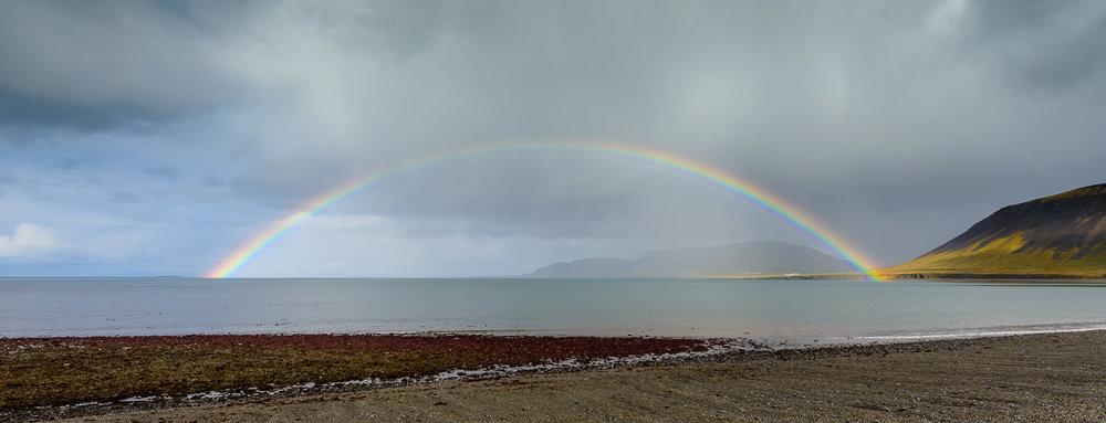 Rainbow,  Grundarfjörður, Snaefellsnes Peninsula, Iceland