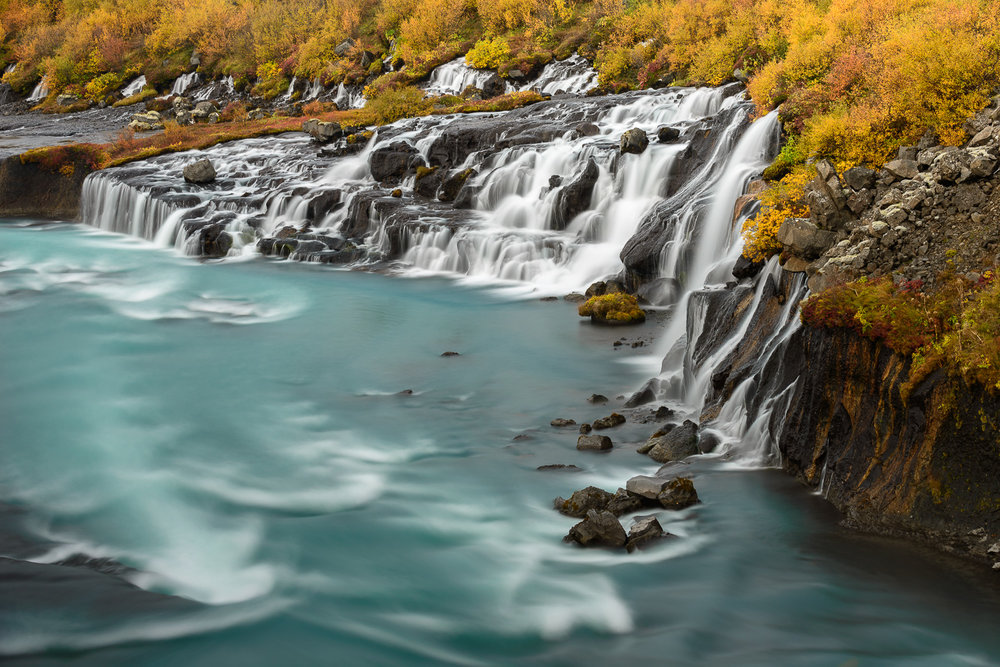 Hraunfossar Fall Colors, Iceland