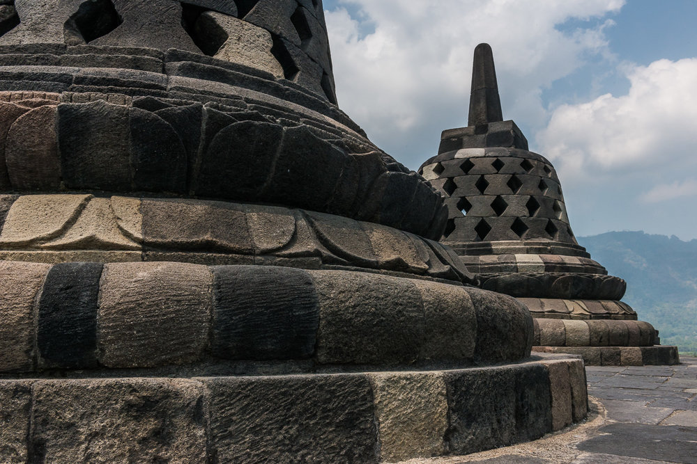 Stupa, Borobudur, Magelang, Central Java, Indonesia