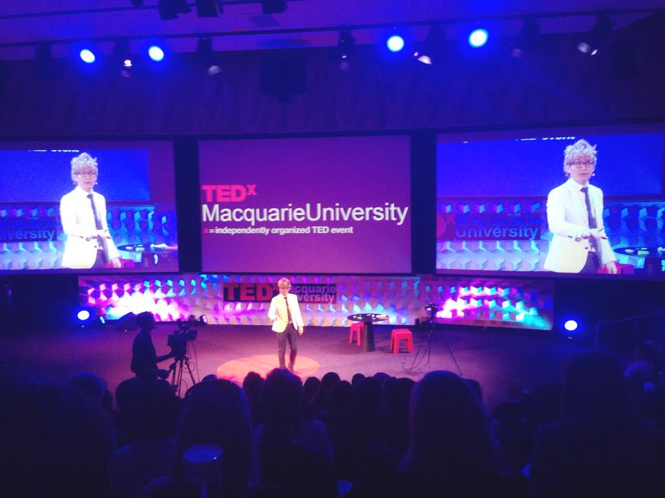 Vinh on the TED stage