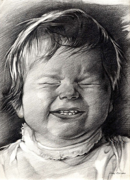 Happy kid. 2001  // graphite pencil drawing.