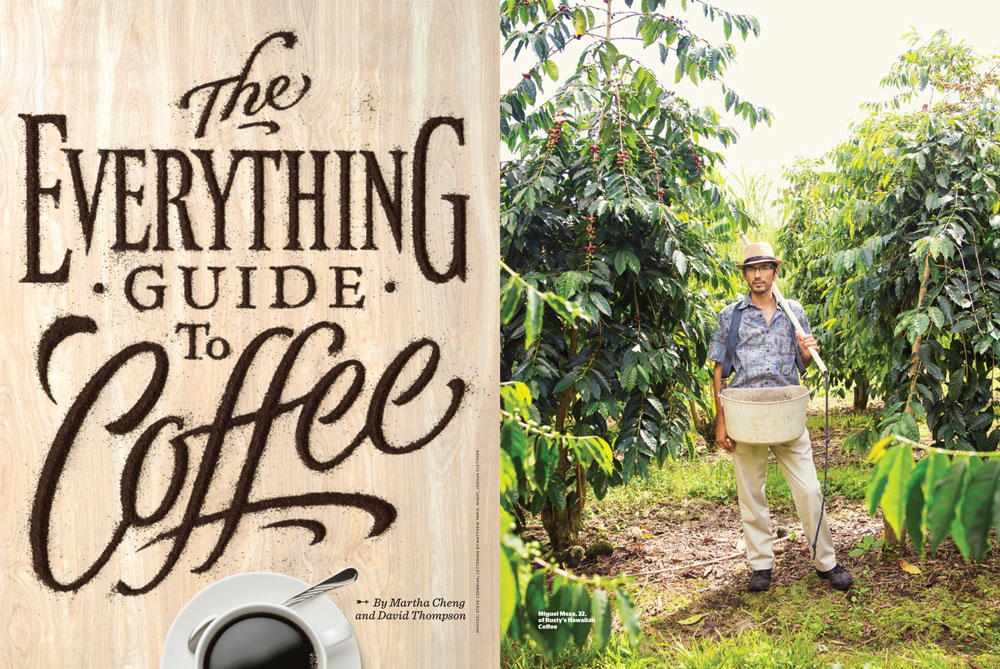 Feature – Everything Guide to Coffee, HONOLULU Magazine, December 2014