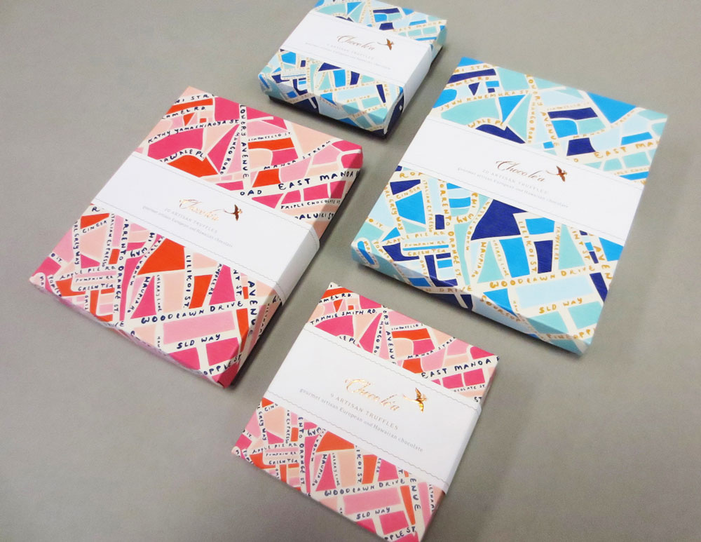 Stacey Leong Design Holiday Choco le'a Gift Boxes