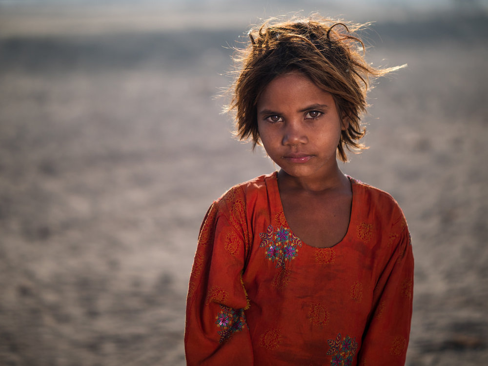 Portrait of a village girl in Sahiwal, Pakistan (2016)