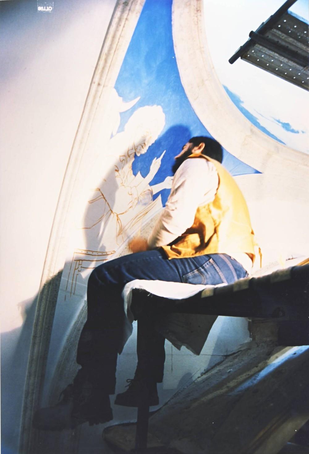 291 rodolfo mentre dipinge 1.JPG