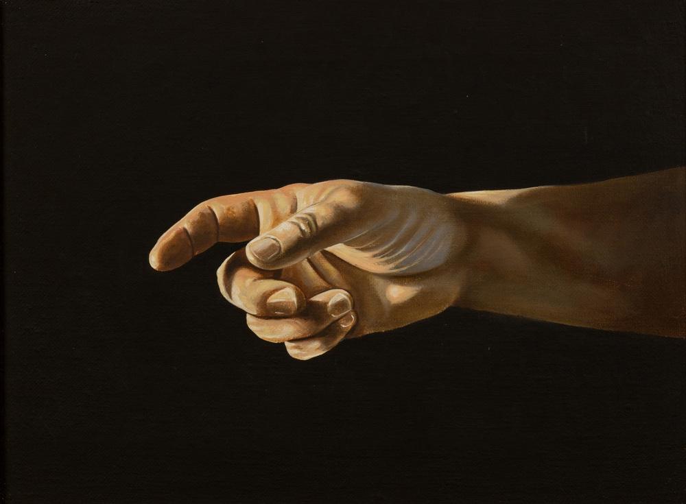Vocativo , olio su tela, cm 30x40, 1996