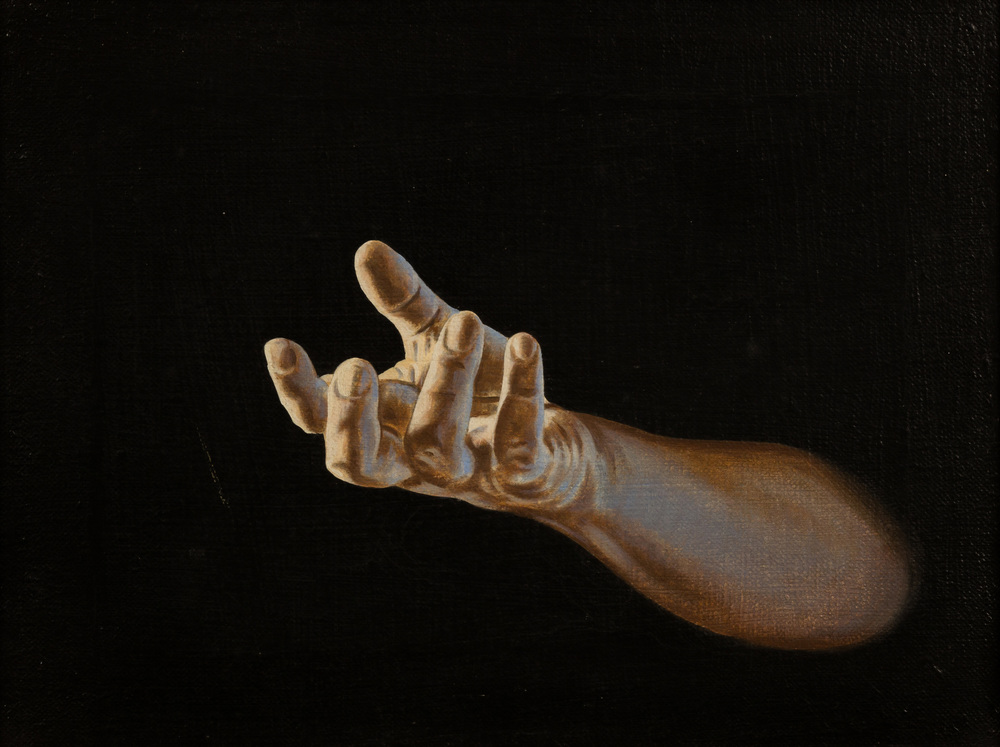 Interrogativo,   olio su tela, cm 30x40, 1996