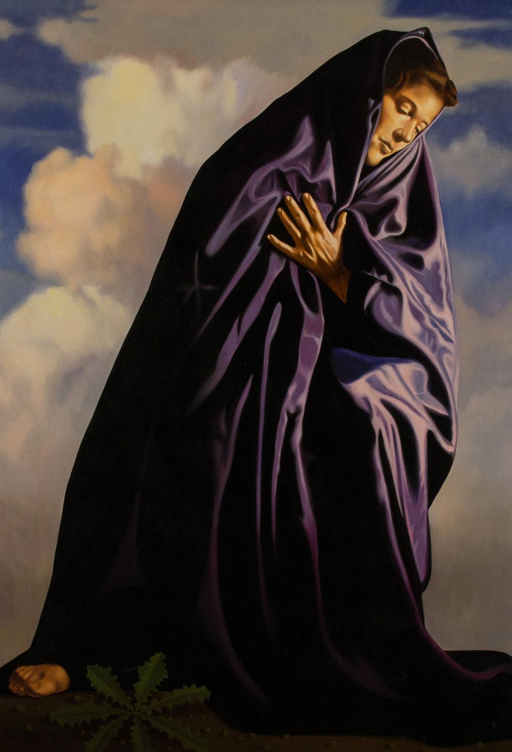 Addolorata , olio su tela, cm 100x70, 2001