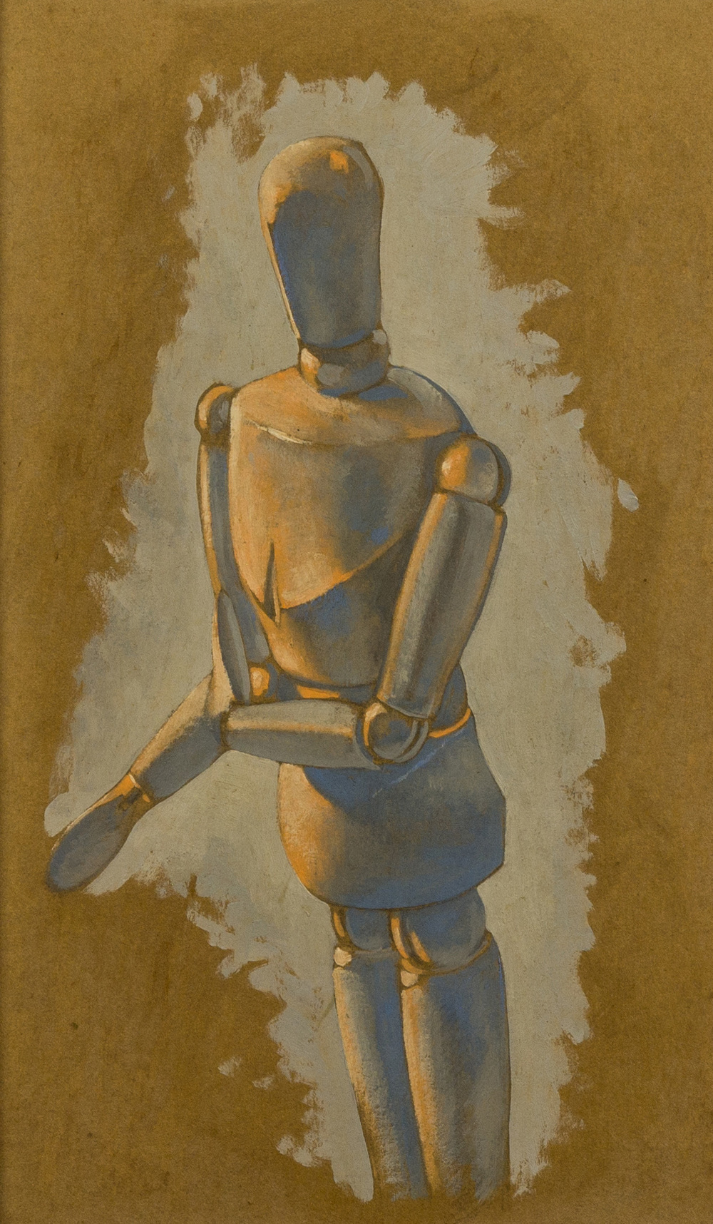 Disumano , olio su cartone, 1997
