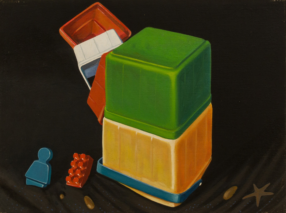Tower Games ,  oil on canvas, cm 30x40, 1996