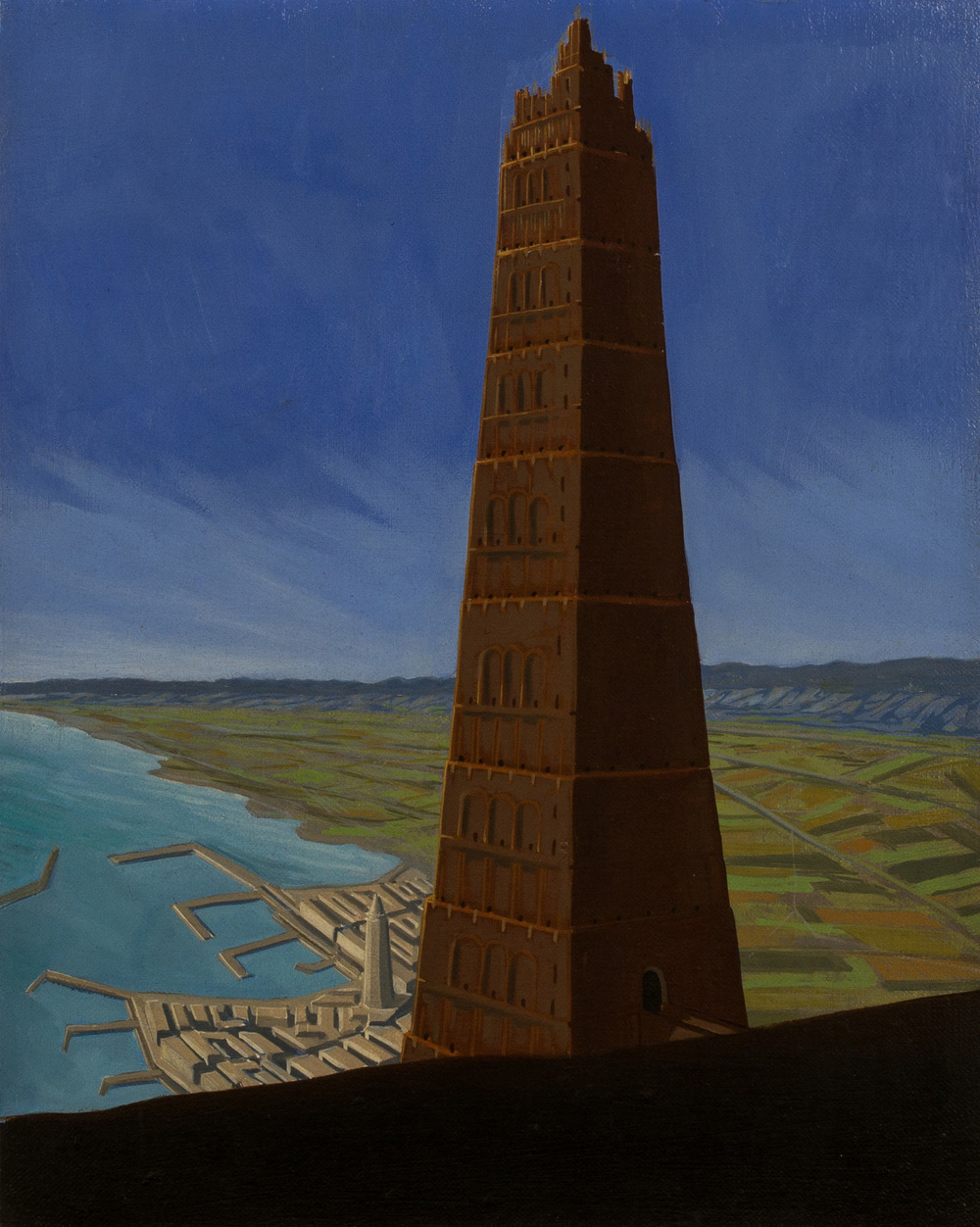 The tower of Babel ,  oil on canvas, cm 50x40, 1995