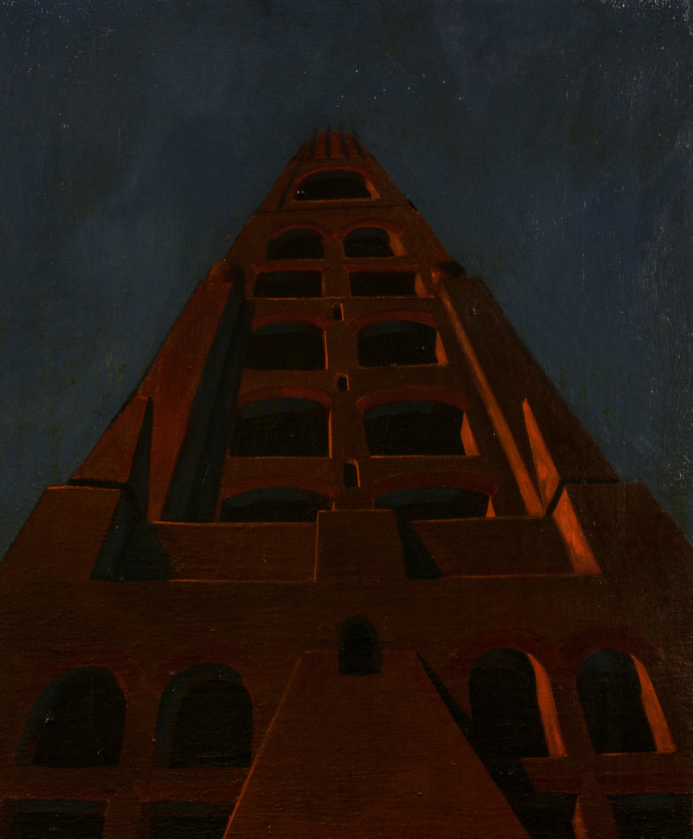 The tower of Babel ,  oil on canvas, cm 60x50, 1994