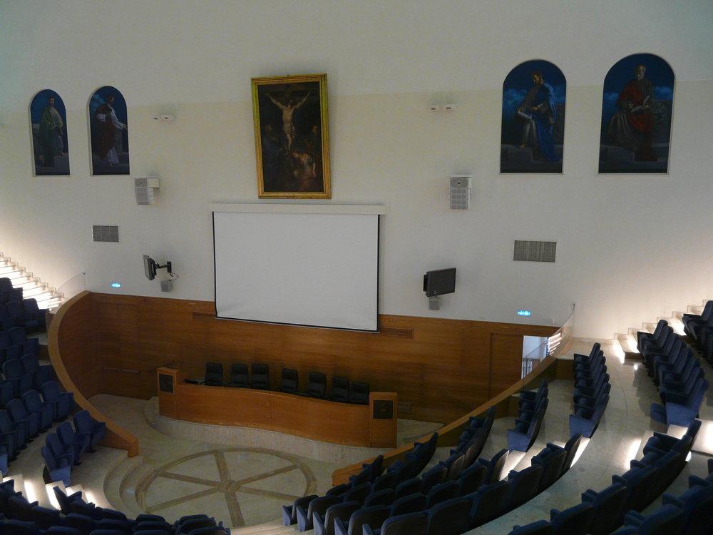 Aula Magna I quattro evangelisti, olio su tela 230x120 cm, 2016