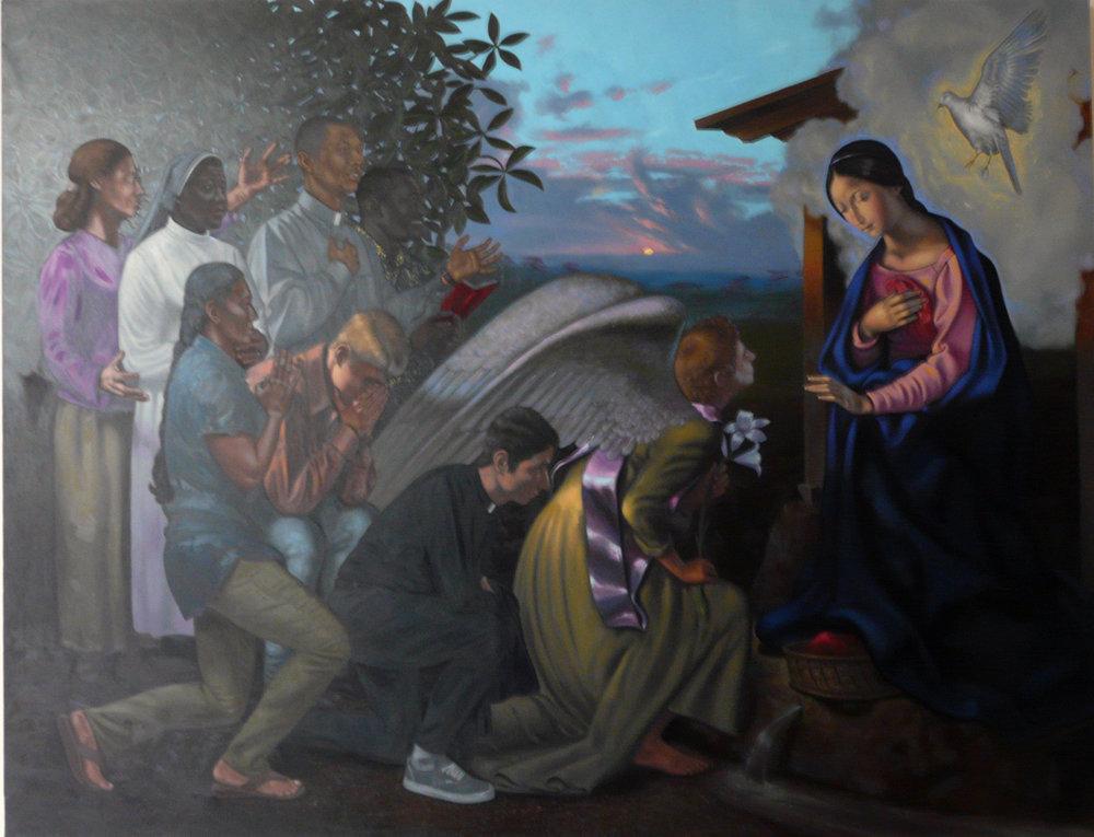 Annunciazione, olio su tela 200x260 cm, 2016