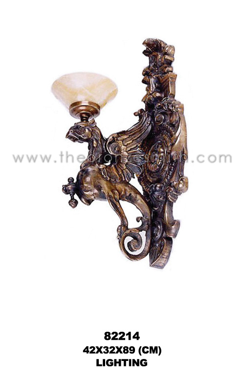 Bronze wall sconce