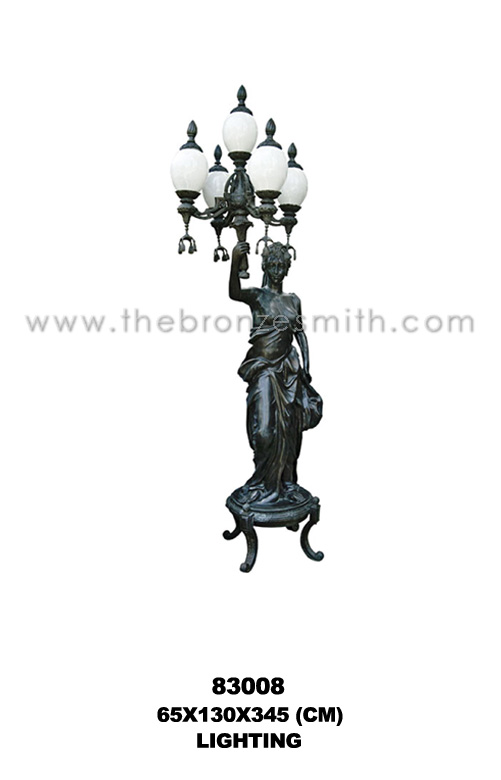 Bronze torchiere lighting