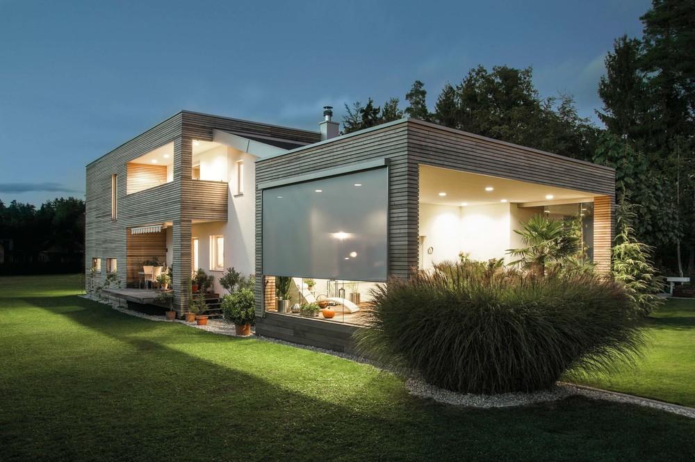 Textilscreens / Fenstermarkisen: Wohnhaus