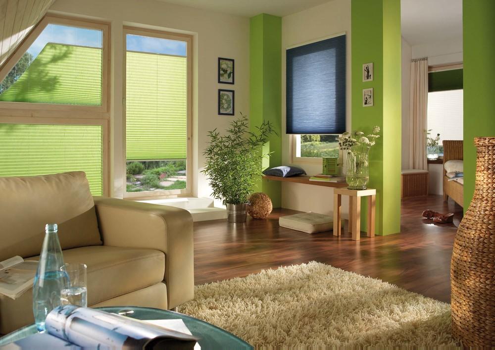 Plissees & Faltstores: Wohnzimmer