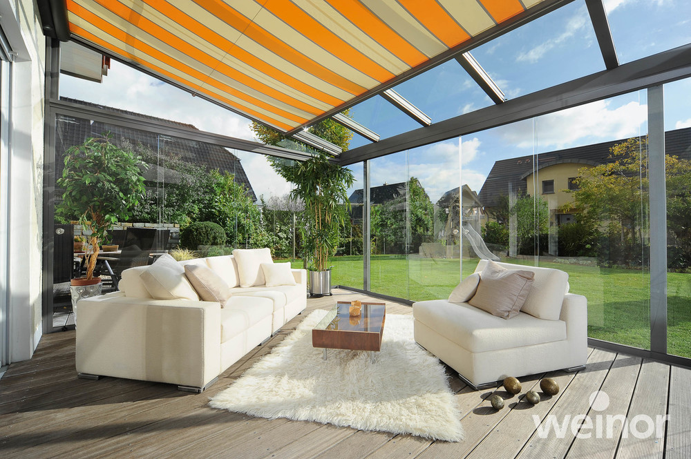 Glasoasen® & Kaltwintergärten mit Innenbeschattung