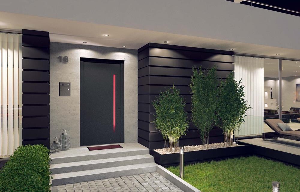 Holz-Aluminiumhaustüren