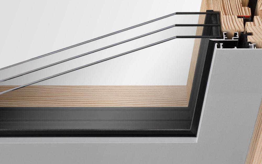 Holz-Aluminiumfenster - Massive Konstruktion