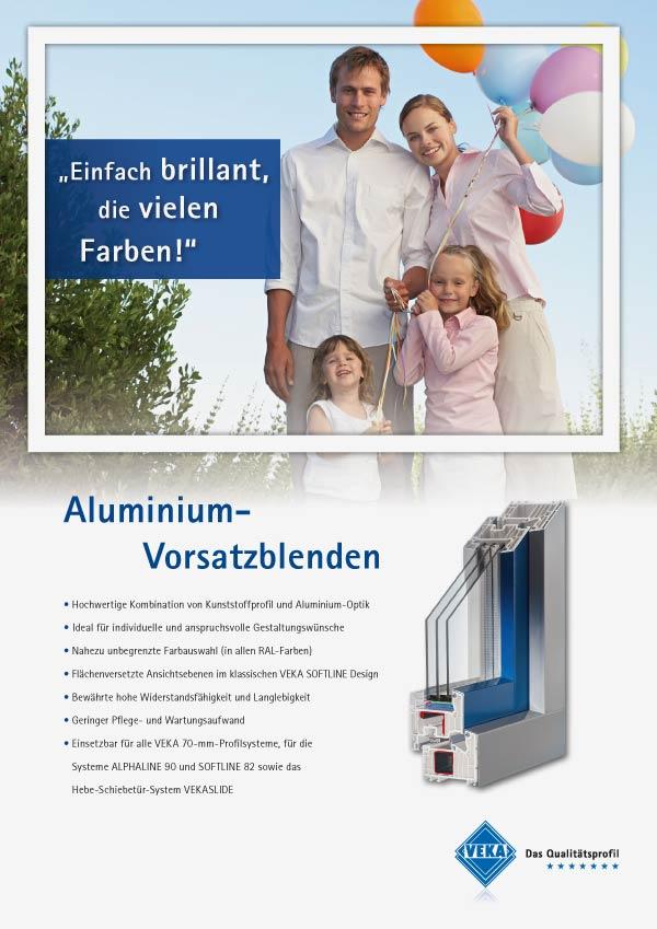 Kunststoff-Aluminiumfenster Vorsatzblenden