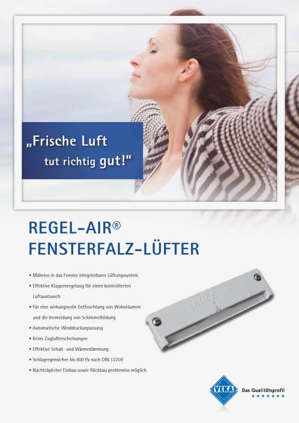 Kunststoff-Aluminiumfenster Regel-Air Lüftung