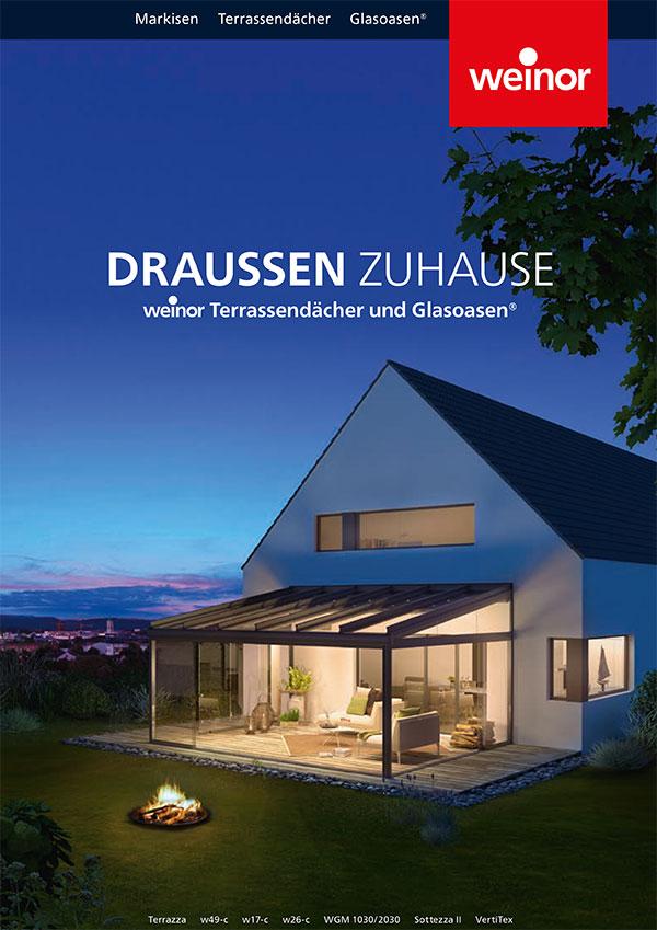 Weinor Katalog Terrassendach und Glasoase