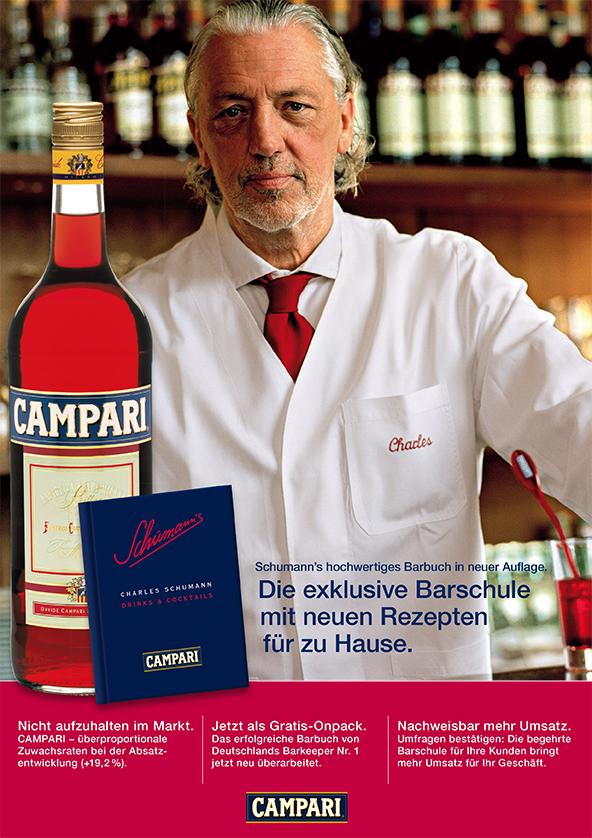 Campari Barbuch Promotion Charles Schumann Anzeige