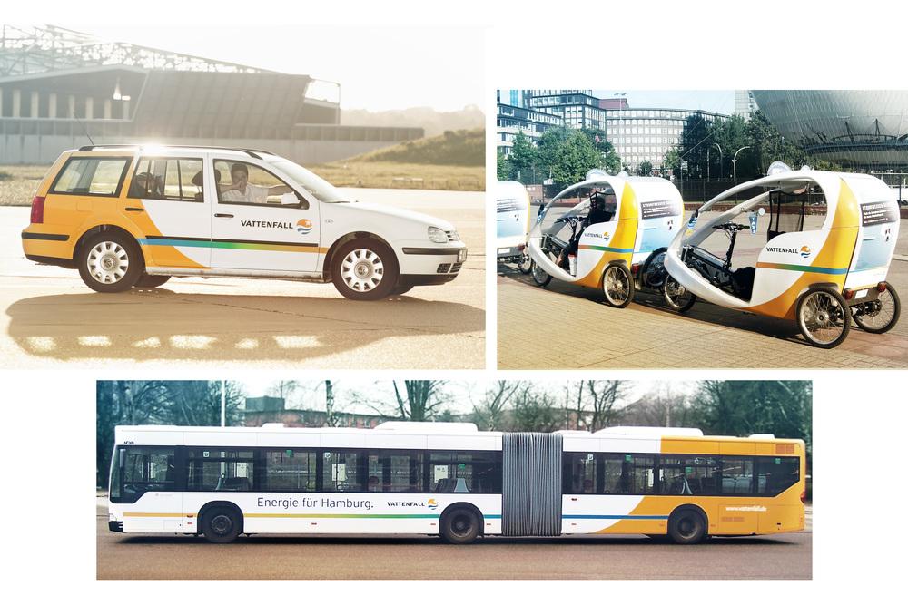 Vattenfall Verkehrsmittelwerbung