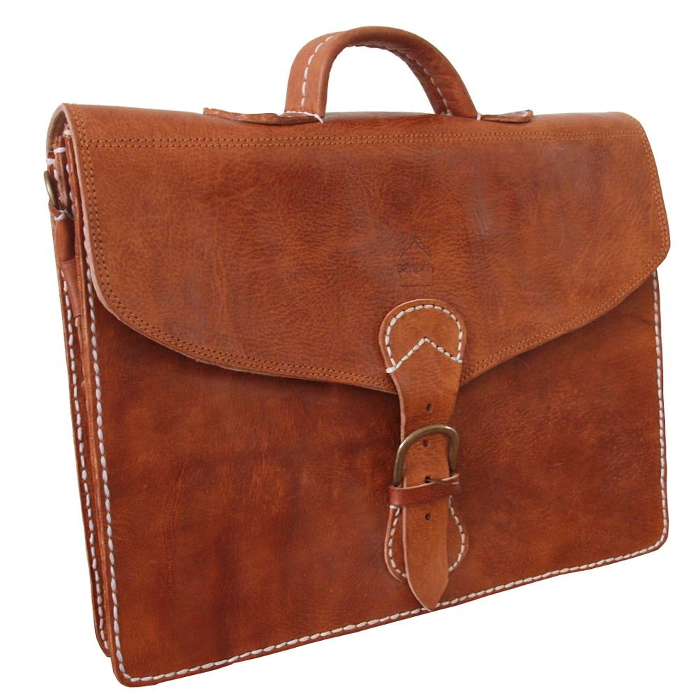 fce121a5e33b The Marrakech Leather Satchel Tan — Berber Leather